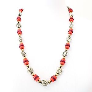J. Crew Necklace Hsnd Knotted Beads Pop Colors